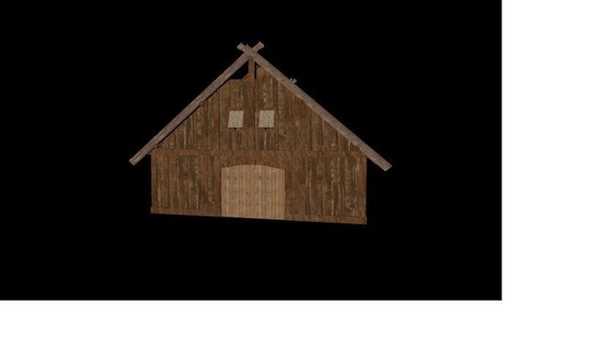 Viking Great Hall  With interior3D model