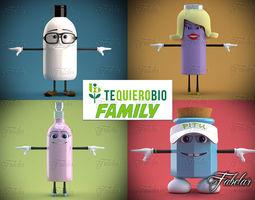 Tequierobio Family 3D Model