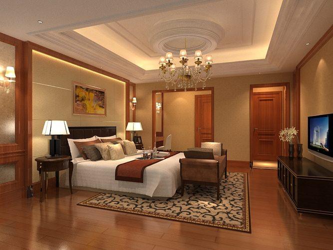 Bedroom or hotel room om046 3d cgtrader for Bedroom designs 3d model