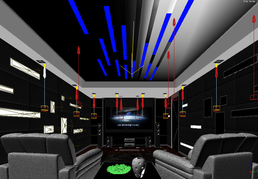 Home theatre 114 3d model max for Theatre model