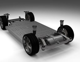 Tesla Model S Chassis 3D Model