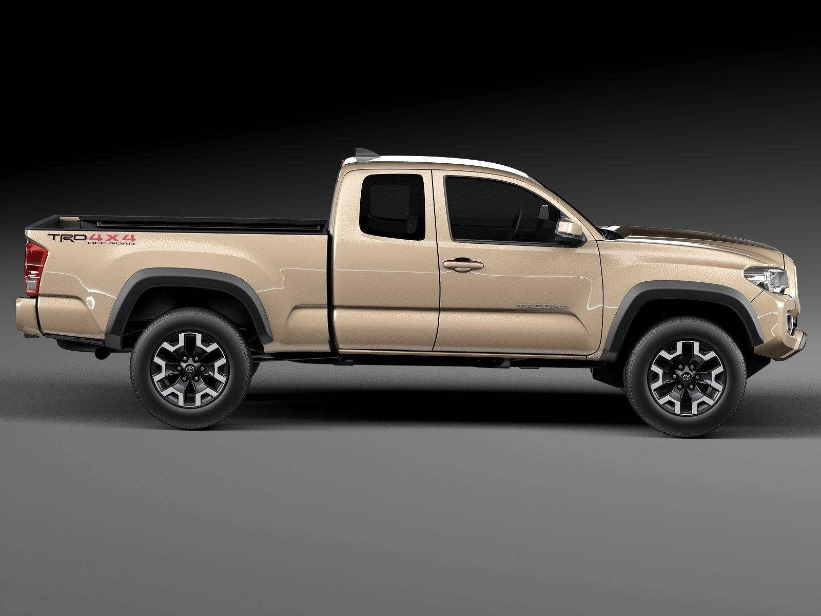 toyota tacoma trd off road 2016 3d model max obj 3ds fbx c4d lwo. Black Bedroom Furniture Sets. Home Design Ideas