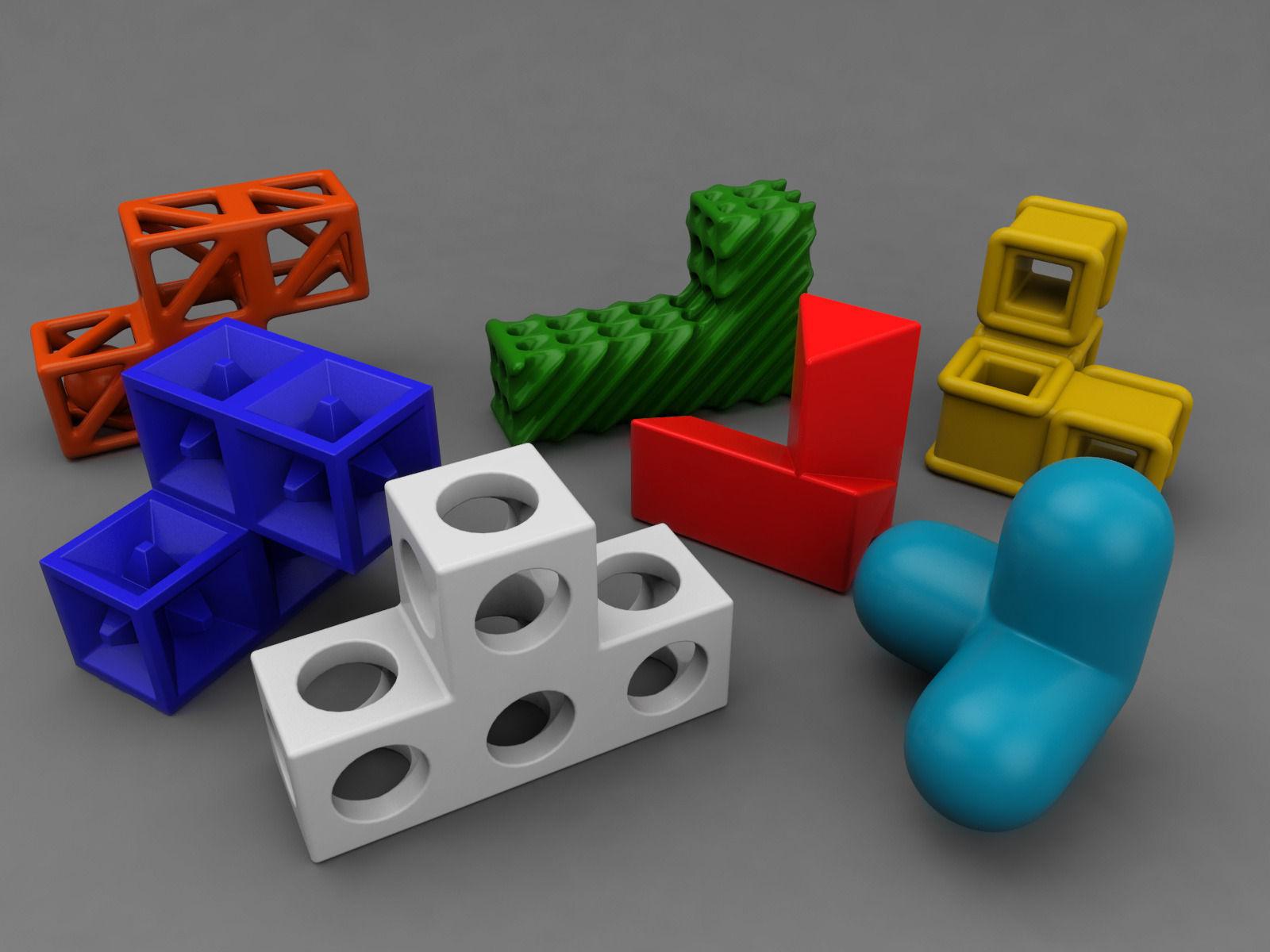 Soma cube puzzle game 3D Model 3D printable .fbx .ma .mb ...