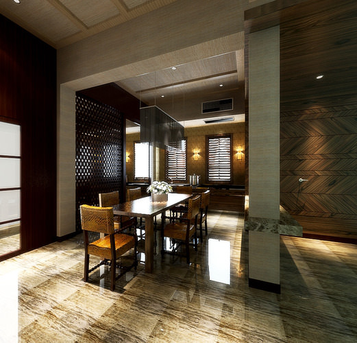 Dining Room Contemporary Style3D model