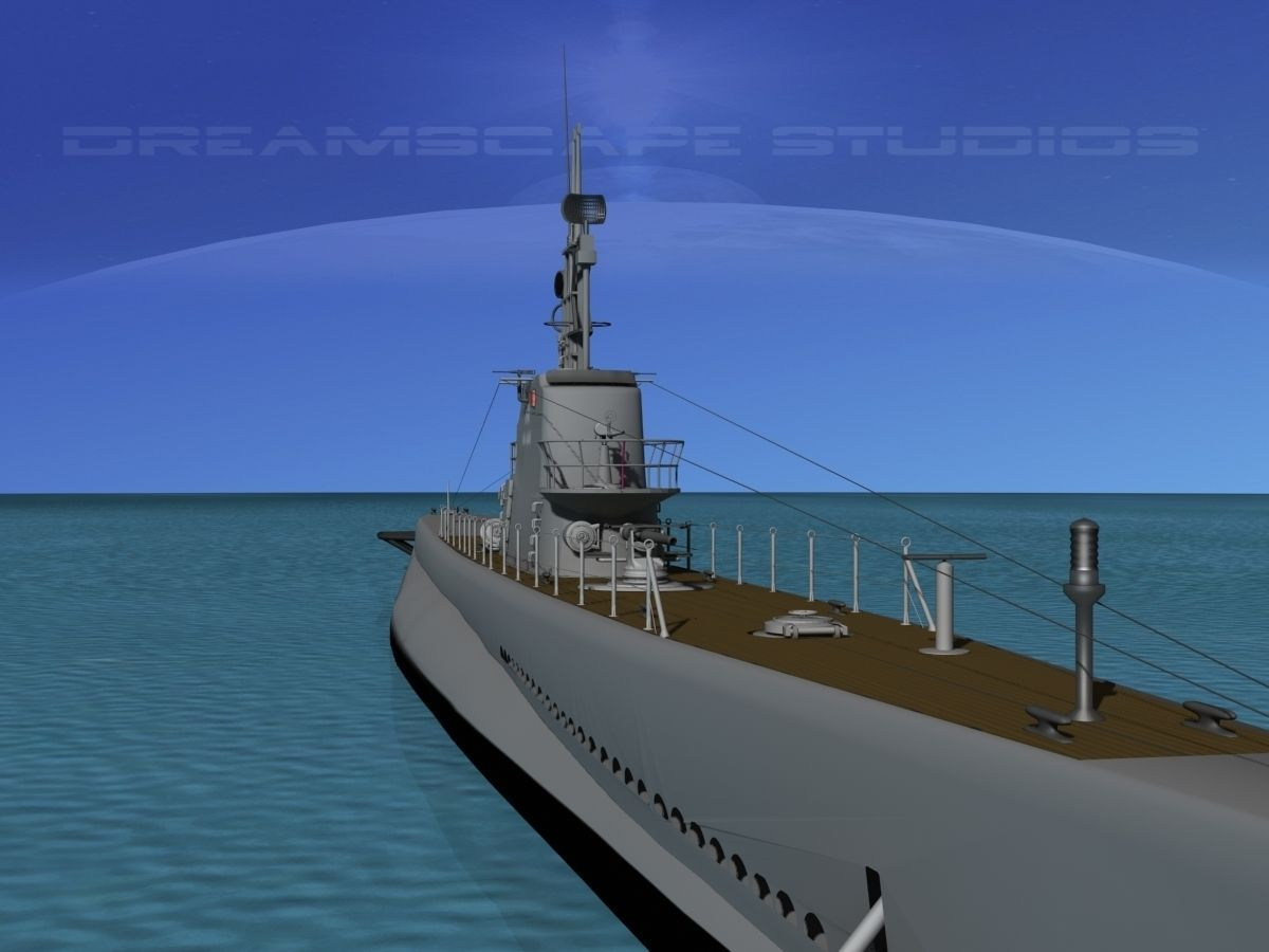 Submarine Ss 212 Uss Gato 3d Model Rigged Max Obj 3ds