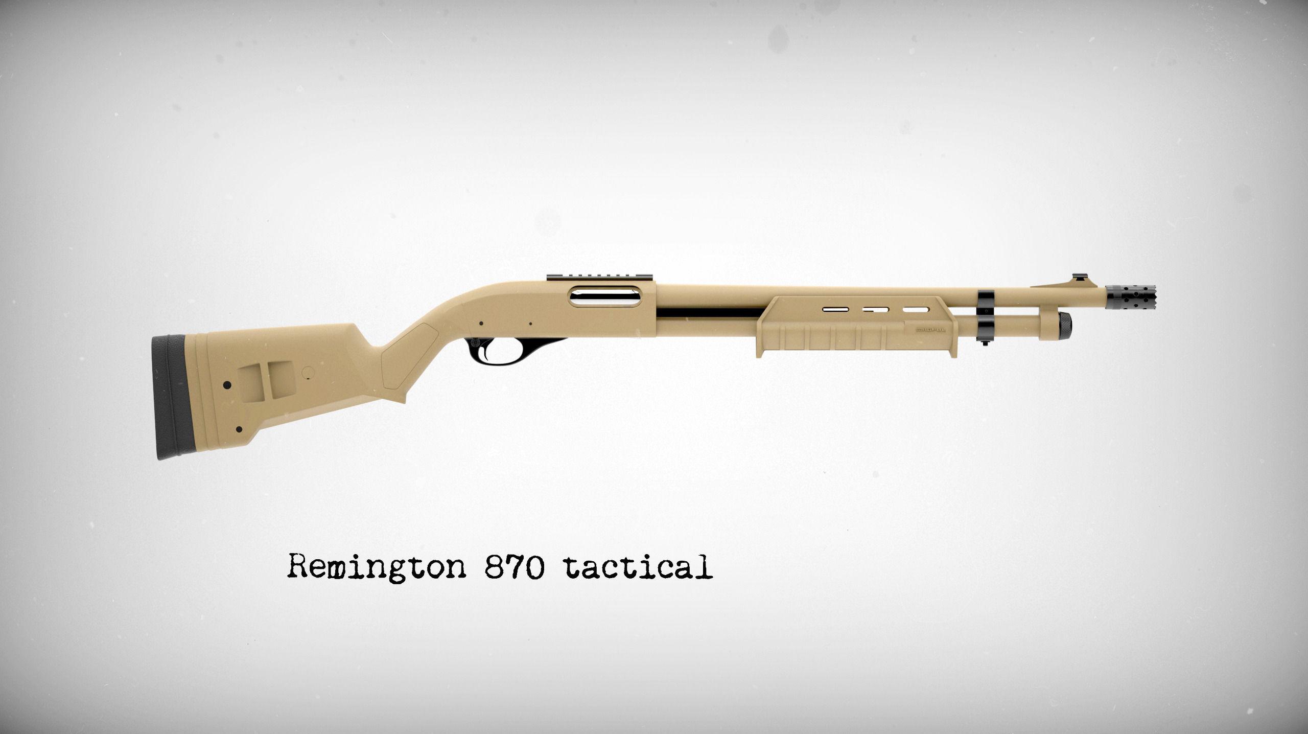 Remington 870 tactical 3d model max cgtrader com