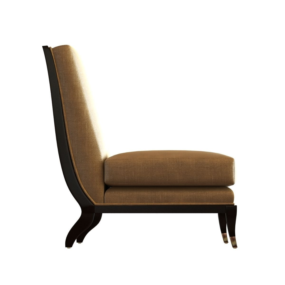 The armless chaise apollon chair 3d model max obj 3ds fbx for Armless chaise lounge