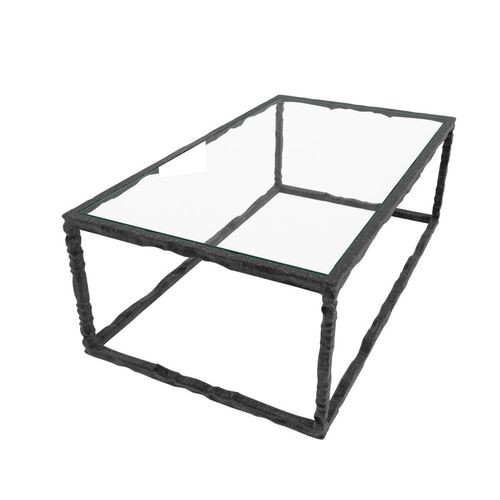 Bruno Romeda bronze and glass coffee table3D model