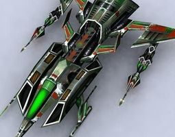 3DRT - Sci-Fi Fighters Fleet -  Fighter -  22 3D Model
