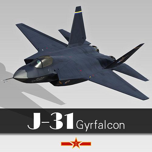 shenyang j-31 3d model max fbx ma mb 1