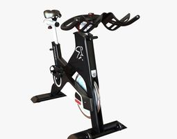 gym stationary bicycle 3d
