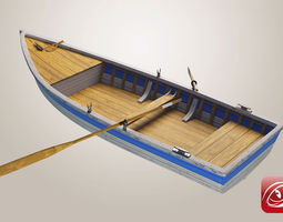 3d model boat a rigged