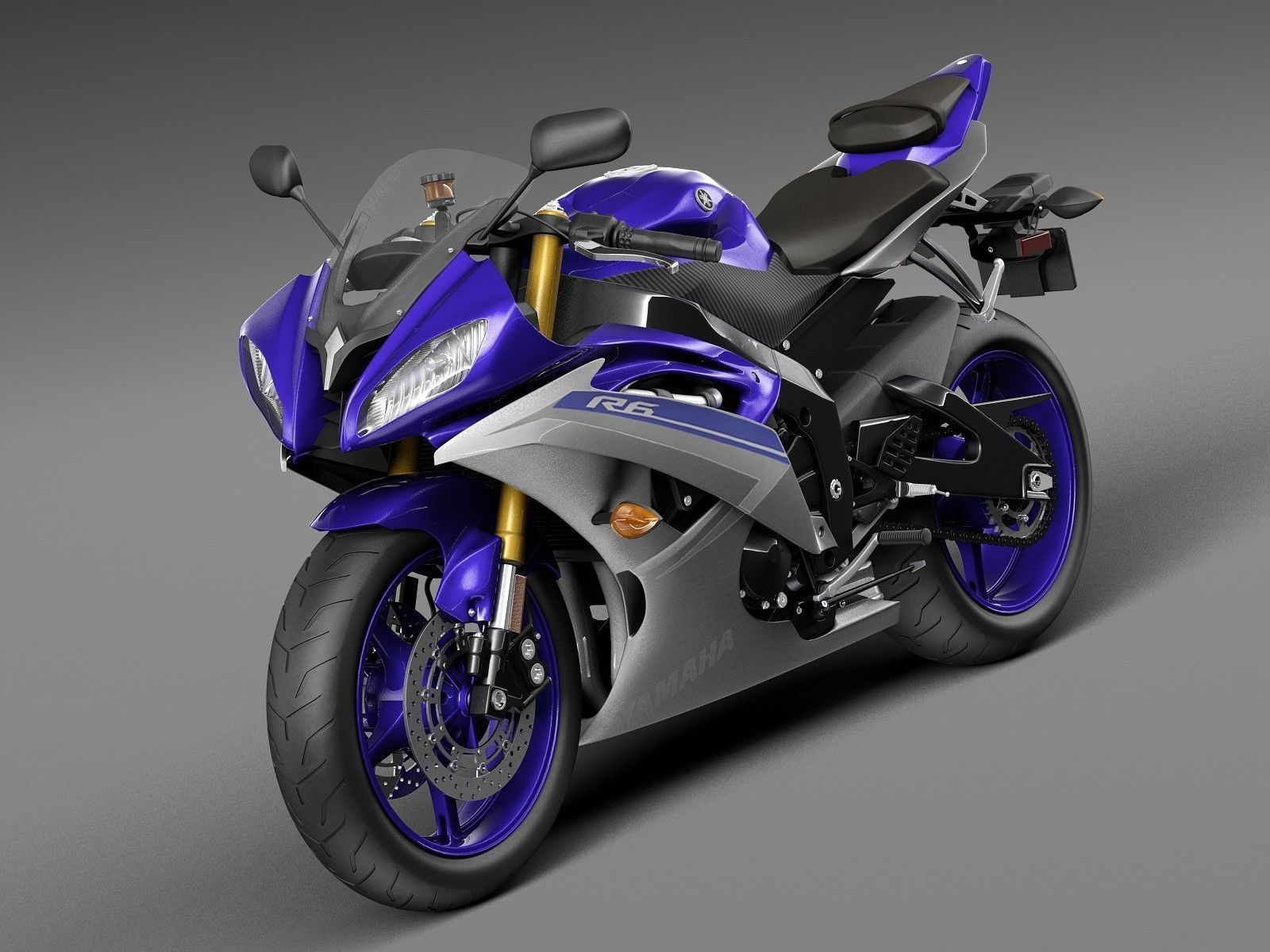 Yamaha yfz r6 2015 3d model max obj 3ds fbx c4d lwo lw lws for 2015 yamaha motorcycle models