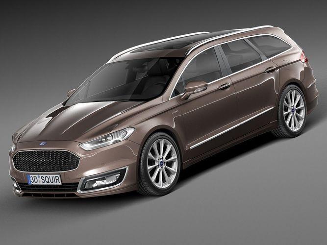 Ford Mondeo 2015 Interior >> Ford Mondeo Vignale Estate 2015 3D Model .max .obj .3ds .fbx .c4d .lwo .lw .lws - CGTrader.com