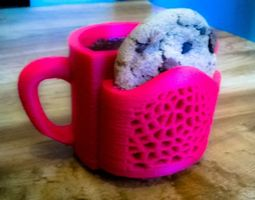 Cookie And Coffee Cup 3D print model