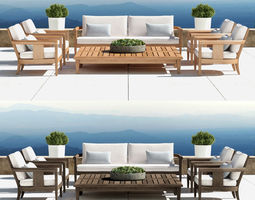 restoration hardware - coronado collection  3d model