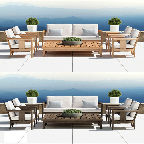 Restoration hardware coronado collection 3d model max for Outdoor furniture 3d max