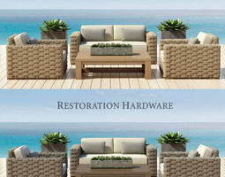 3d restoration hardware - rutherford collection