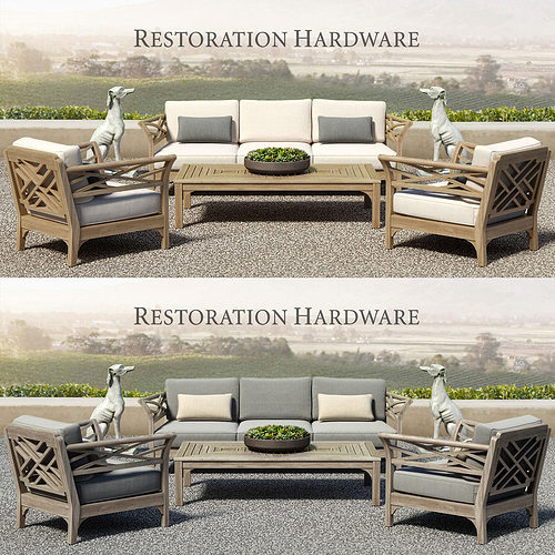 Restoration Hardware Sofa Collection: KINGSTON COLLECTION 3D Model MAX