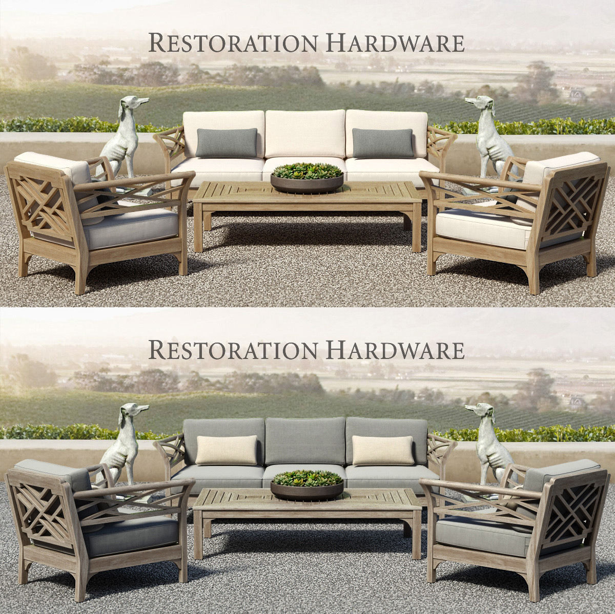 Restoration Hardware Kingston Collection 3d Model Max Obj Fbx