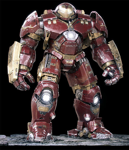 iron man mark 44 - hulkbuster armor 3d model rigged max fbx stl 1
