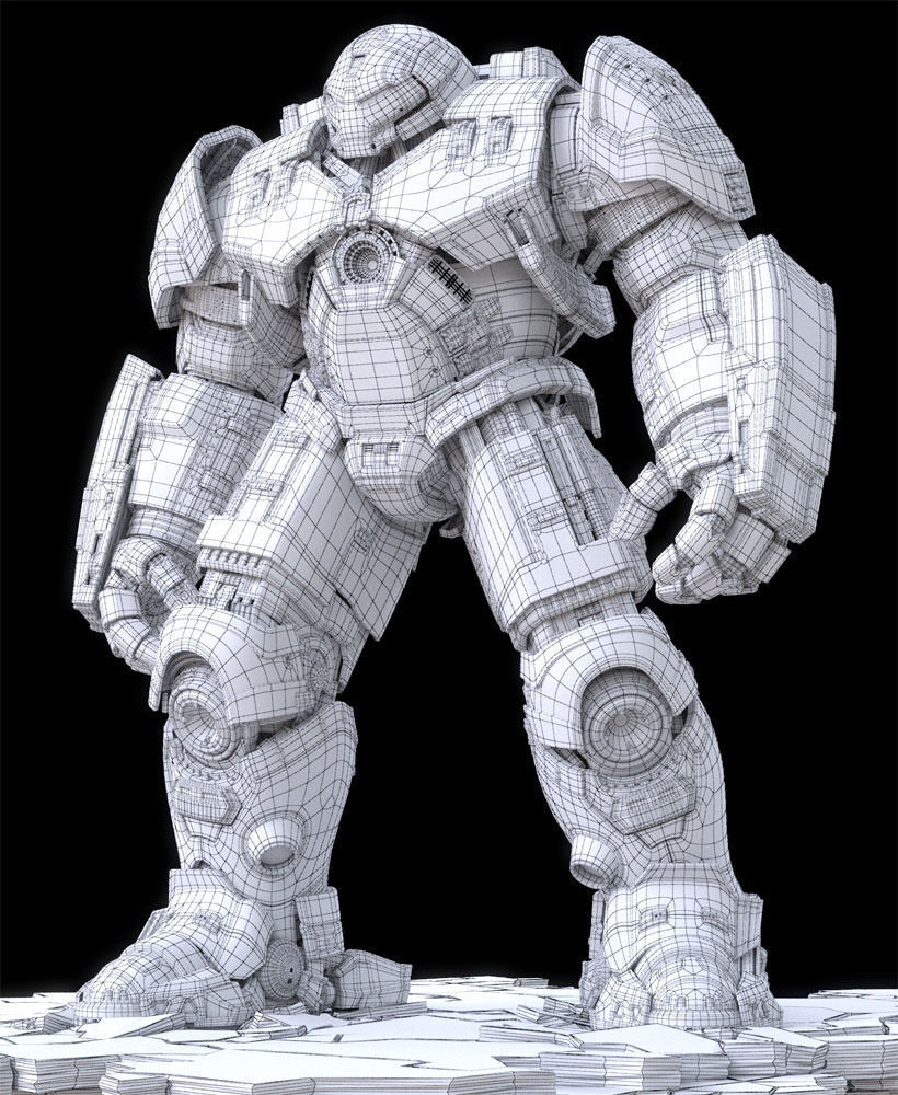 Iron Man Mark 44 Hulkbuster Armor 3d Model Cgstudio - Www