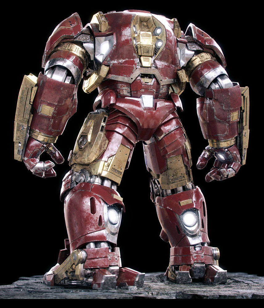 Iron Man Mark 44 - Hulkbuster Armor 3D Model rigged MAX ...