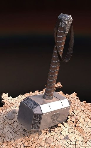 hammer of thor 3d model max cgtrader com