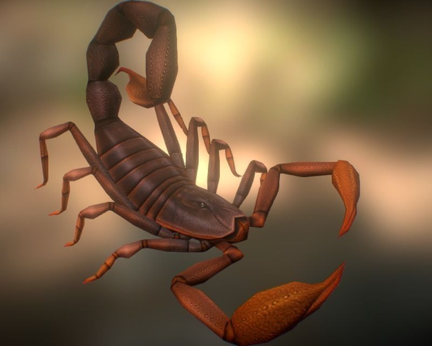 Animated Scorpion 3d Model Game Ready Animated Rigged Fbx Cgtrader Com
