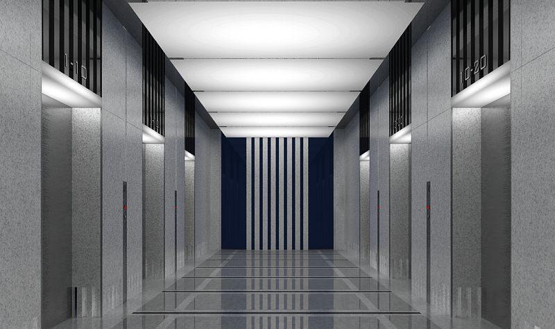 Hall Of Elevators - Small Otis Hydraulic Elevator At South