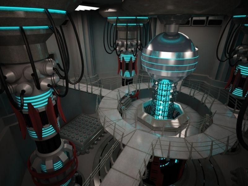 3d scifi base reactor cgtrader