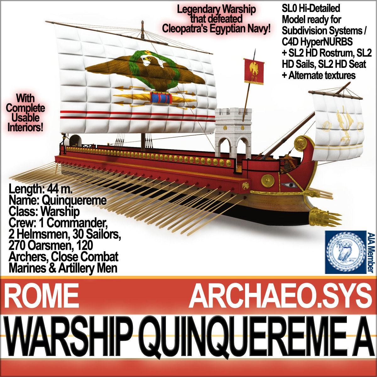 Roman Warship Quinquereme A
