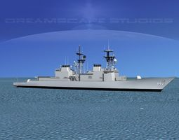 Spruance Class DD982 USS Nicholson 3D