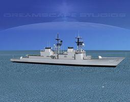 3D Spruance Class DD989 USS Deyo