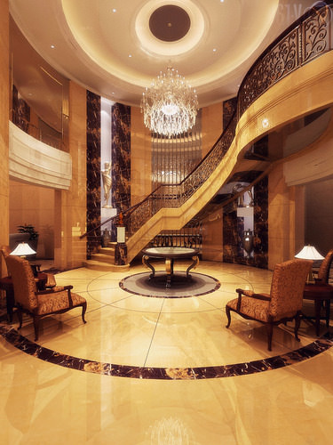 Foyer Interior Vision : Lobby foyer d model max cgtrader