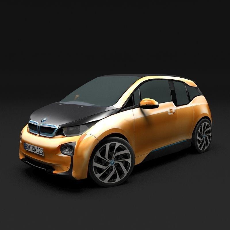 Bmw I3: 3D Model BMW I3 VR / AR / Low-poly MAX OBJ 3DS FBX MTL