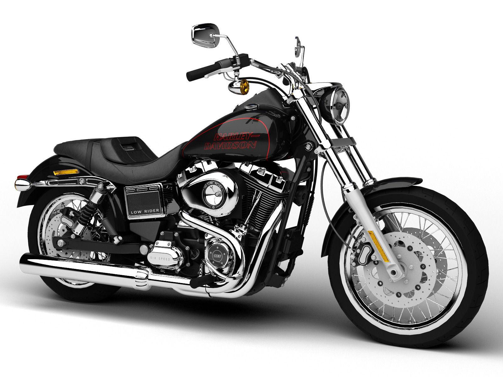Custom Harley Davidson Dyna Fxdl Build: Harley-Davidson FXDL Dyna Low Rider 2015 3D