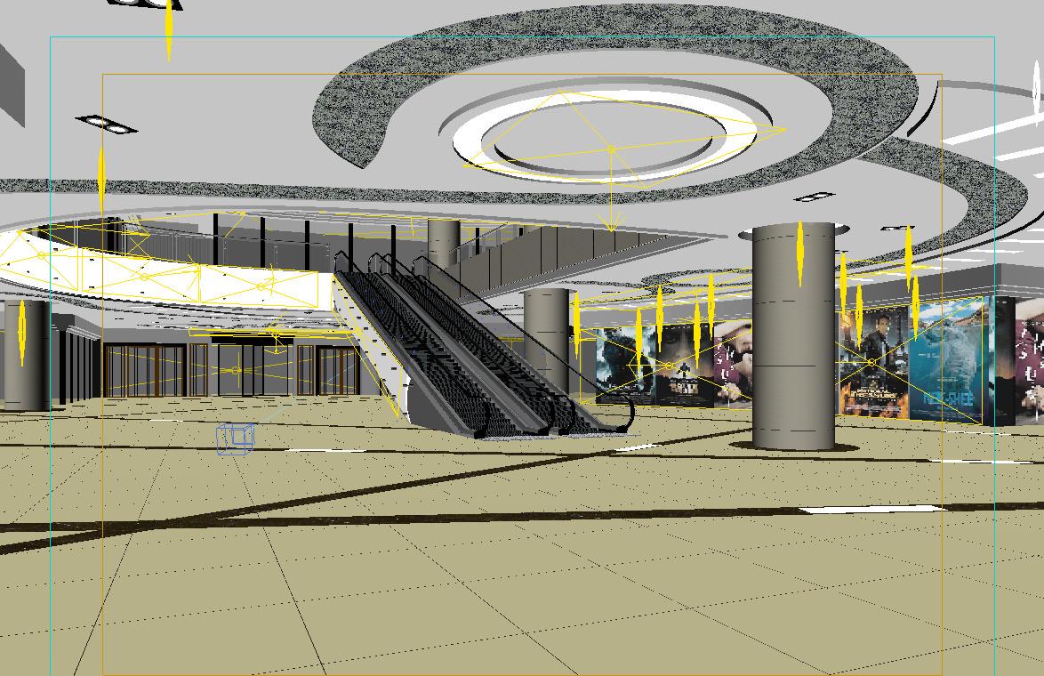 088 mall interior 3d model max cgtrader com