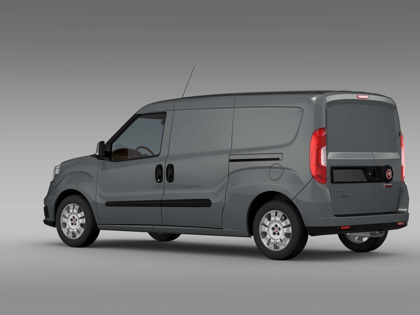fiat doblo cargo maxi 263 2015 3d model max obj 3ds. Black Bedroom Furniture Sets. Home Design Ideas