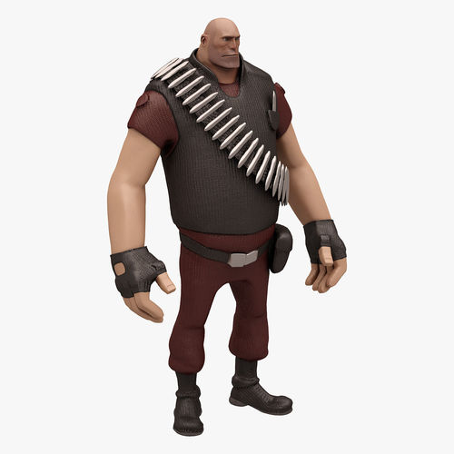 Heavy 2 TEAM FORTRESS 2 Not Rigged3D model