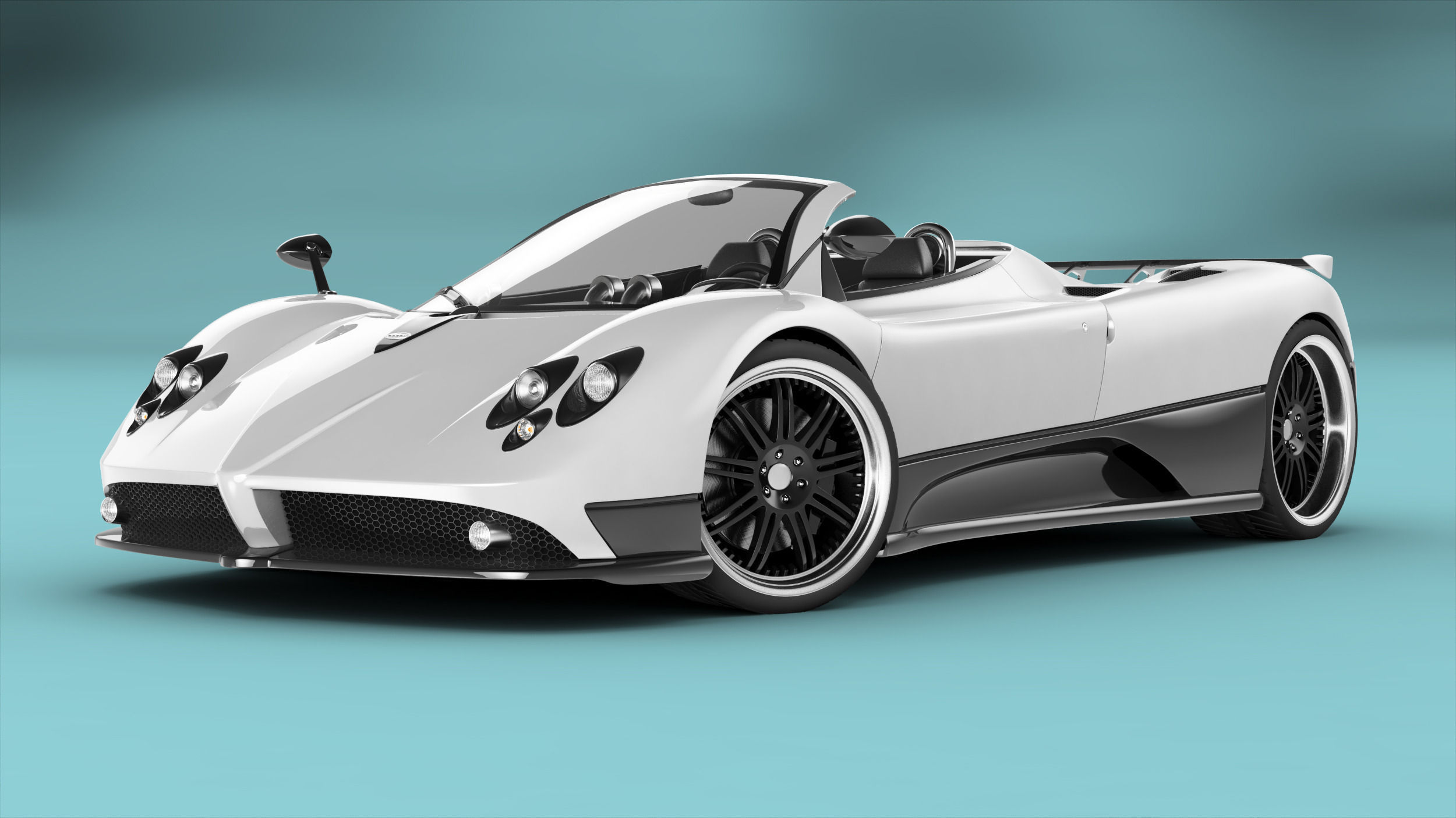 pagani zonda f roadster rigged 3d model animated rigged obj fbx ma mb mtl. Black Bedroom Furniture Sets. Home Design Ideas