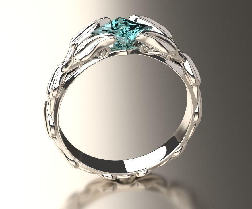 Engagement Ring 3d Model 3d Printable Obj Cgtrader Com