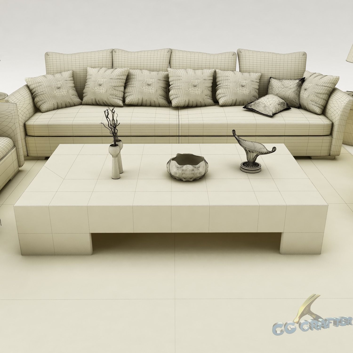 Sofa set 075 3d model max obj 3ds fbx mtl for Sofa 3d model