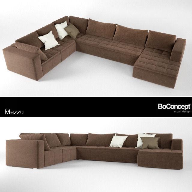 Sofa bo concept modular 3d model max Boconcept sofa price
