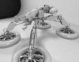 water strider scifi vehicle 3D Model