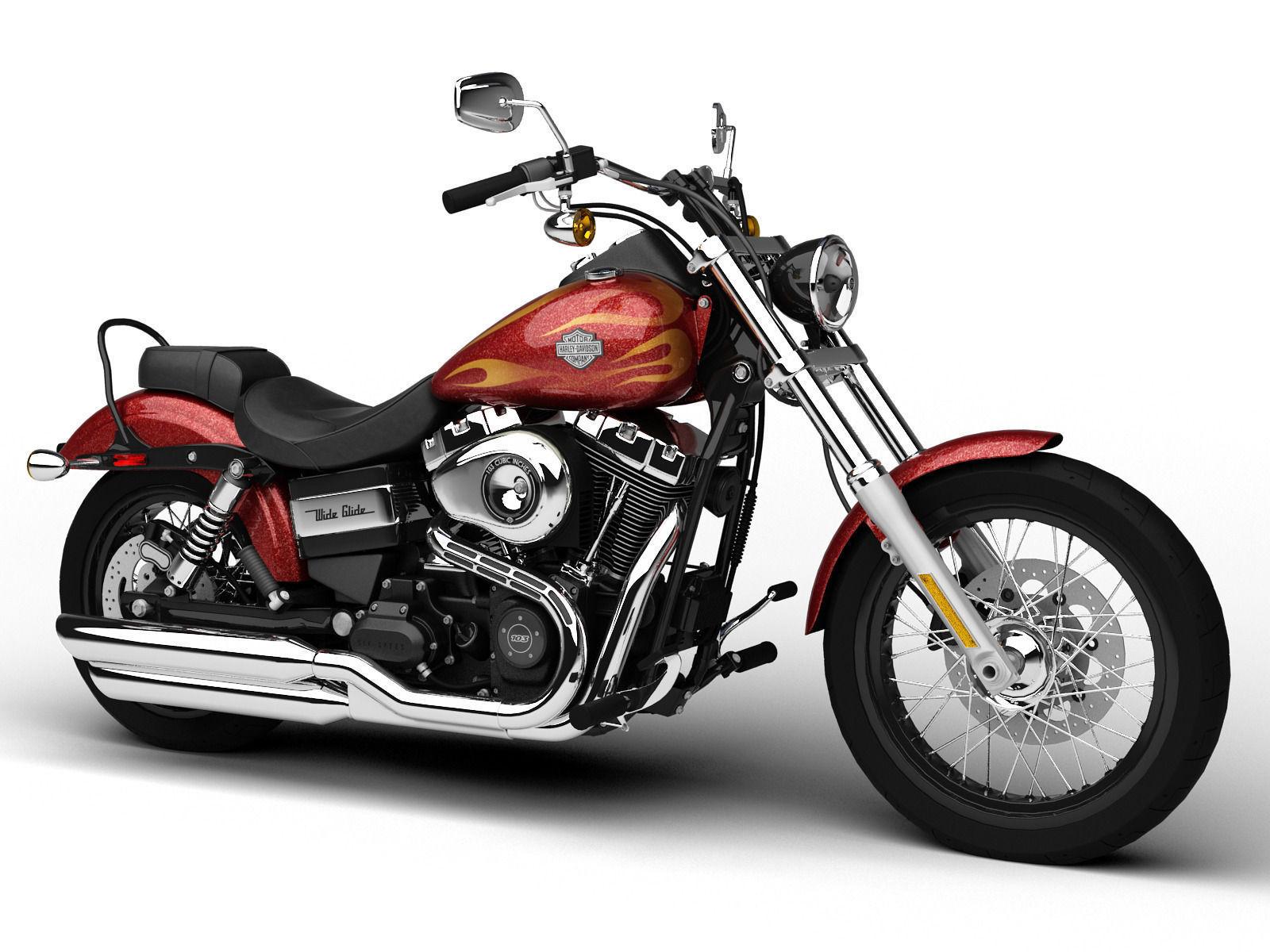 Harley-Davidson FXDWG Dyna Wide Glide 2015 3D Model MAX ...
