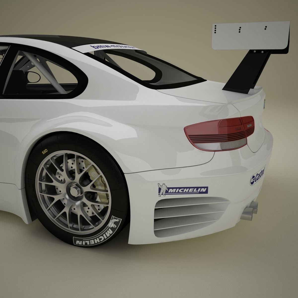 Bmw M3 Gtr: BMW M3 GTR E92 3D Model .max