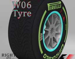 W06 Intermediate front tyre 3D Model
