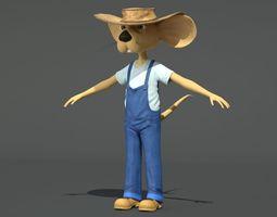 Farmer Mouse 3D Model