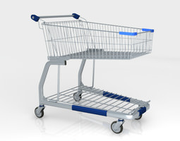 Shopping trolley Wanzl City shopper 3D Model